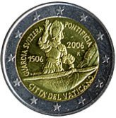 Vatican Commemorative Coin 2006 - Anniversary founding of the Swiss Guard
