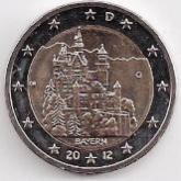 German Commemorative Coin 2012 - Bayern .Schloss Neuschwanstein Bavaria