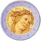 San Marino Commemorative Coin 2010 - Sandro Botticelli