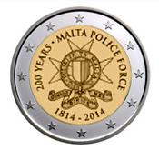 Maltese Commemorative Coin 2014 - Maltese Police