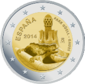 Spanish Commemorative Coin 2014 - Park Güell