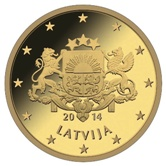 Latvian 10 cent coin