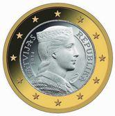 Latvian 1 Euro €  coin