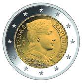 Latvian 2 Euro € coin