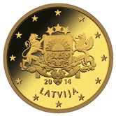 Latvian 50 cent coin