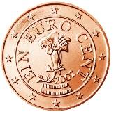 Austrian 1 cent coin