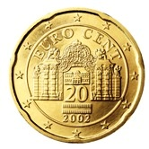 Austrian 20 cent coin