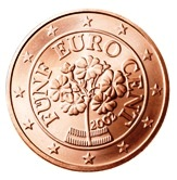 Austrian 5 cent coin