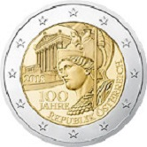 Austrian Commemorative Coin 2017 - 100 years Republic of Austria