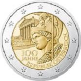 Austrian Commemorative Coin 2017 - 100 years Republic of Austria