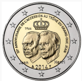 Luxembourg Commemorative Coin 2014 - Grand Duke Jean