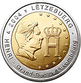 Luxembourg Commemorative Coin 2004 - Grand Duke Henri