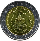 Vatican Commemorative Coin 2004 - 75 years founding of Vatican