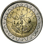 San Marino Commemorative Coin 2005 - Galileo Galilei