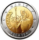 Spanish Commemorative Coin 2005 - Don Quixote