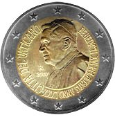 Vatican Commemorative Coin 2007 - 80th birthday Pope Benedict XVI