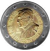 Vatican Commemorative Coin 2007 - 80th birthday Pope Benedict XVI