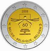 Belgian Commemorative Coin 2008, Human Krights