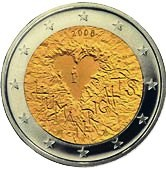 Finnish Commemorative Coin 2008 - human rights