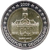 German Commemorative Coin 2009 - Saarland