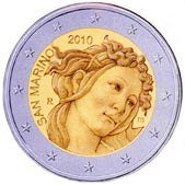 San Marino Commemorative Coin 2010 - Sandro Botticelli