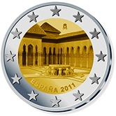 Spanish Commemorative Coin 2011 - Patio de los Leones Alhambra Grenada