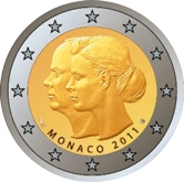 Monaco Commemorative Coin 2011 - Wedding Albert II and Charlene