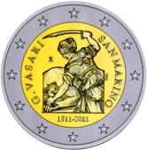 San Marino Commemorative Coin 2011 - Giorgio Vasari