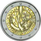 Vatican Commemorative Coin 2011 - World Youth Day Madrid