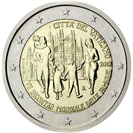 Vatican Commemorative Coin 2012 - World Family Meeting in Mailand