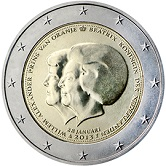 Netherlands Commemorative Coin 2013 - Change of Monarchy Beatrix Willem-Alexander