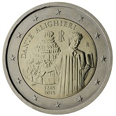 Italian Commemorative Coin 2015 - Dante