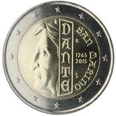 San Marino Commemorative Coin 2015 - Dante Alighieri
