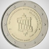 San Marino Commemorative Coin 2015 - German Unification