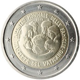 Vatican Commemorative Coin 2015 - VII World Meeting of Females in  Philadelphia