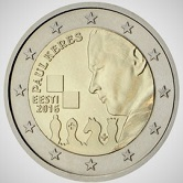 Estonian Commemorative Coin 2016 - Paul Keres