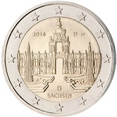 German Commemorative Coin 2016 - Sachsen