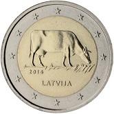 Latvian Commemorative Coin 2016 - Diary Farming in Latvia