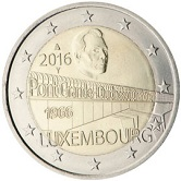 Luxembourg Commemorative Coin 2016 - Grand Duchess Charlotte Bridge
