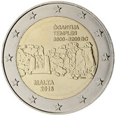Maltese Commemorative Coin 2016 - Prehistoric Temple of Gganta