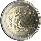 San Marino Commemorative Coin 2016 - Donatello