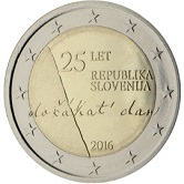 Slovenian Commemorative Coin 2016 - 25 years independence