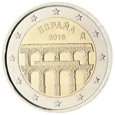 Spanish Commemorative Coin 2016 - Aqueduct of Sergovia