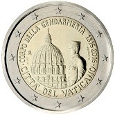 Vatican Commemorative Coin 2016 - 200  Years  founding of Vatican Gendarmeria