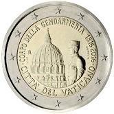 Vatican Commemorative Coin 2016 - 200  Years  founding of Vatican Gendarmeria