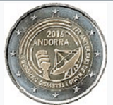 Andorran Commemorative Coin 2016 - 25 years television