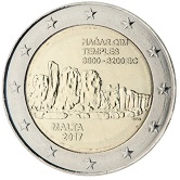 Maltese Commemorative Coin 2017 - Complex at Hagar Qim