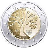 Estonian Commemorative Coin 2017 - Independence