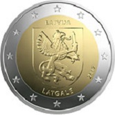 Latvian Commemorative Coin 2017 - Latgale