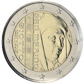 San Marino Commemorative Coin 2017 - Giotto di Bondone